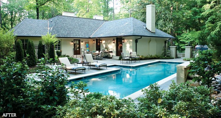 Readers reclaim their yards with outdoor living space for Backyard makeover with pool