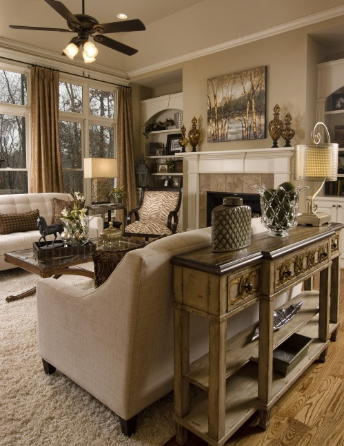 Eclectic Atlanta Great Room Makeover Atlanta Home Improvement - Ethan Allen Dining Rooms