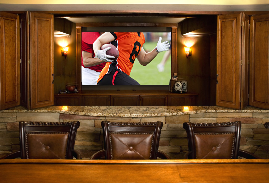 5 ways to transform your basement into a magnificent man cave atlanta home improvement - Bar built into wall ...
