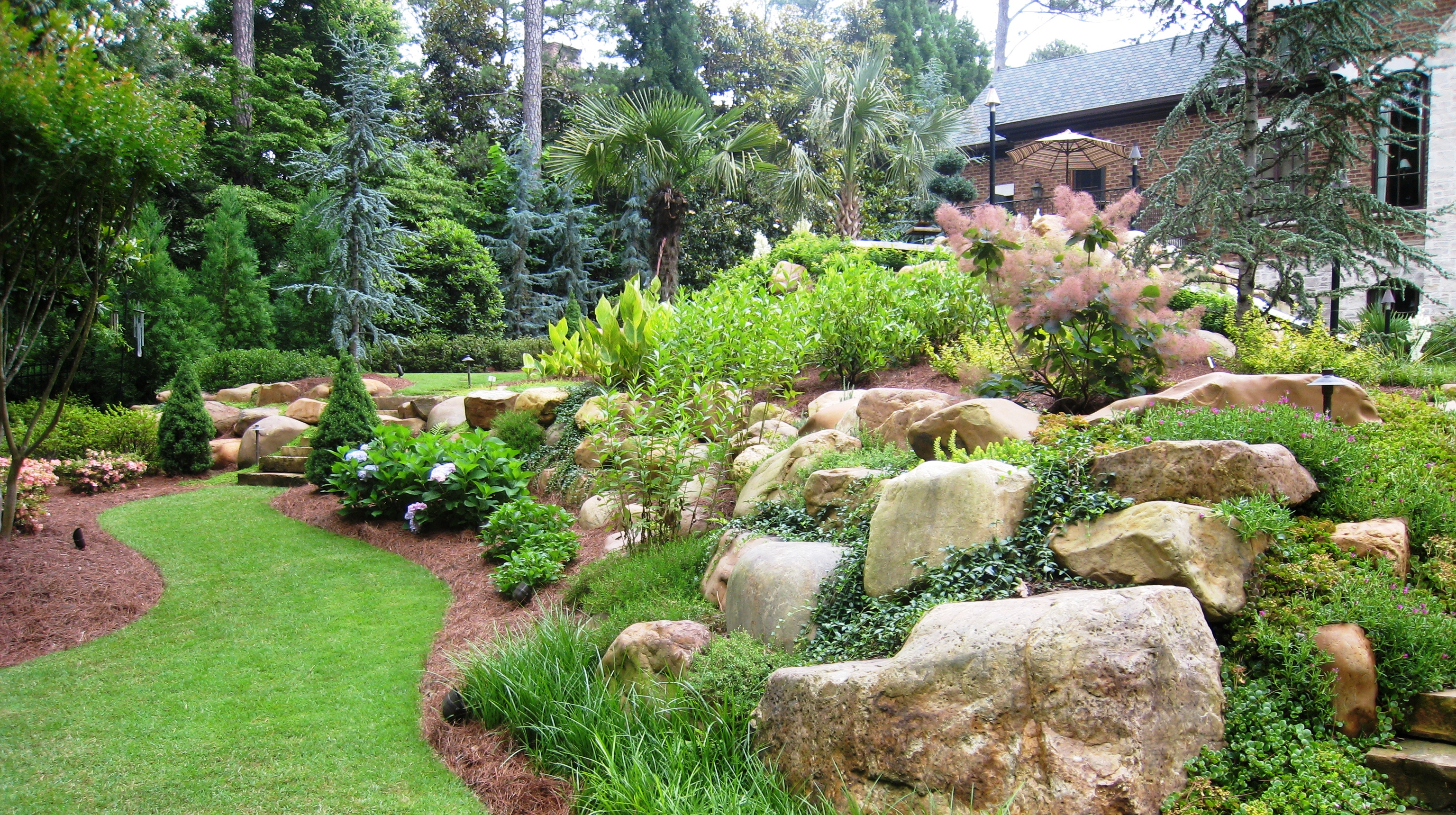 Solterra landscape atlanta home improvement for Natural garden designs