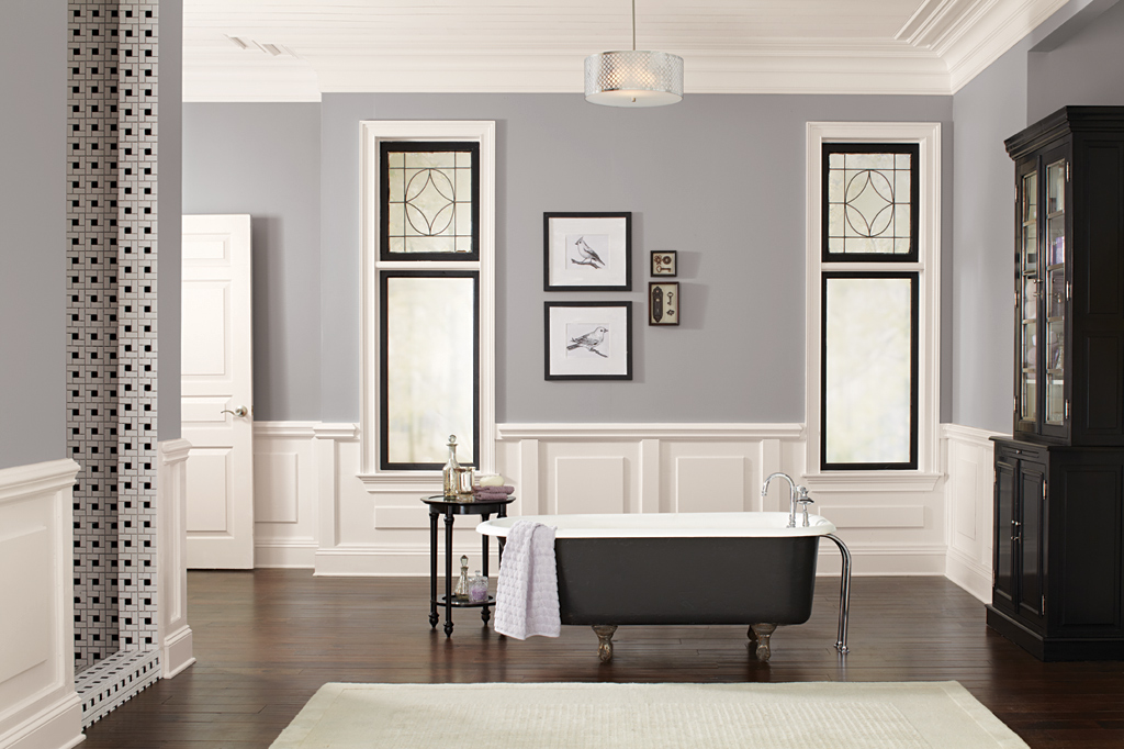 The gallery for passive gray sherwin williams for Sherwin williams bathroom paint colors