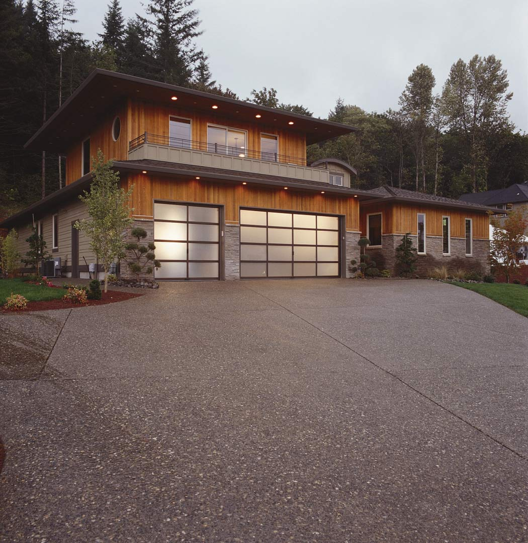 Contemporary garage doors natural home design