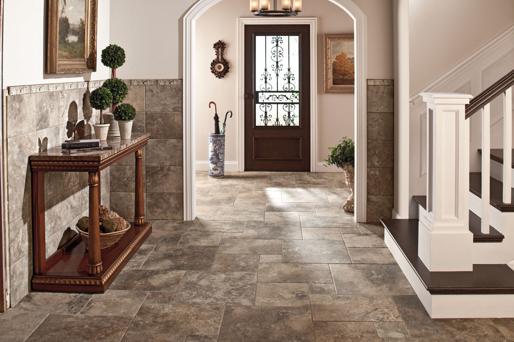 Beautiful tile design ideas for the entire home atlanta for Entrance foyer tiles
