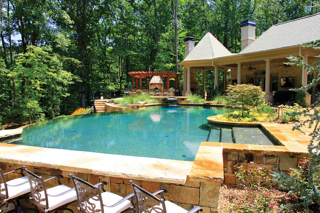 Pools and spas design atlanta home improvement for Poolside kitchen designs