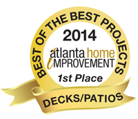 2014 Best of the Best Projects 1st Place Decks/Patios/Porches Category