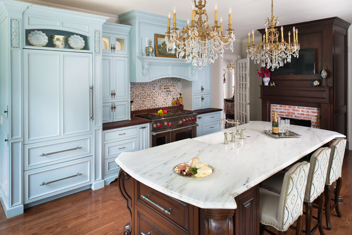 _kitchen-blue-cabinets-granite-Designs-by-BSB_-Mark-Matuzak
