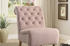 New Traditional-Linon Cora Roll Back Tufted Chair