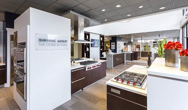 Howard Payne Company Showroom showcasing appliances