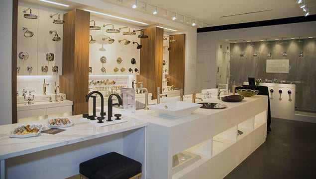 Kohler Signature Store by PDI showroom showcasing their faucets and sinks