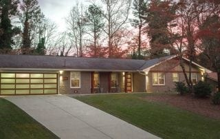 Front exterior of a Ranch remodel in Doraville, GA