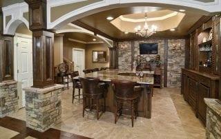 basement - kitchen, bar, media room, gym
