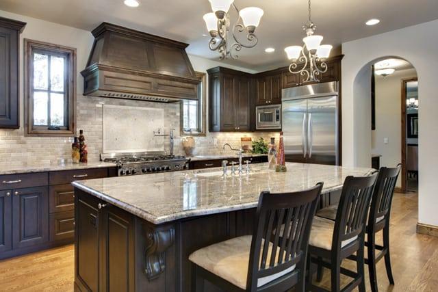 open floor kitchen plan