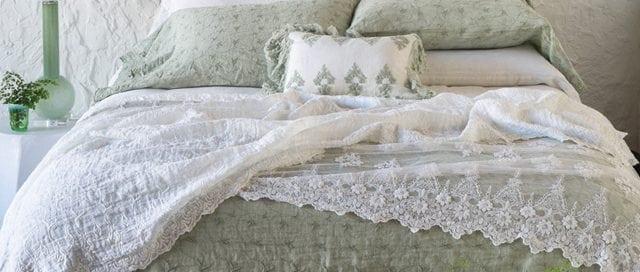 Bella Notte vintage-inspired, custom-dyed linens