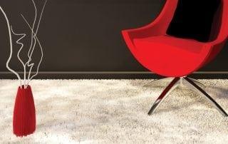 Beige carpet in living room