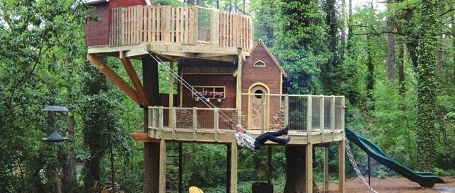 Fun outdoor play area for kids and adults