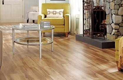 Elegant and cozy living room with Luxury Vinyl Flooring (LVT)