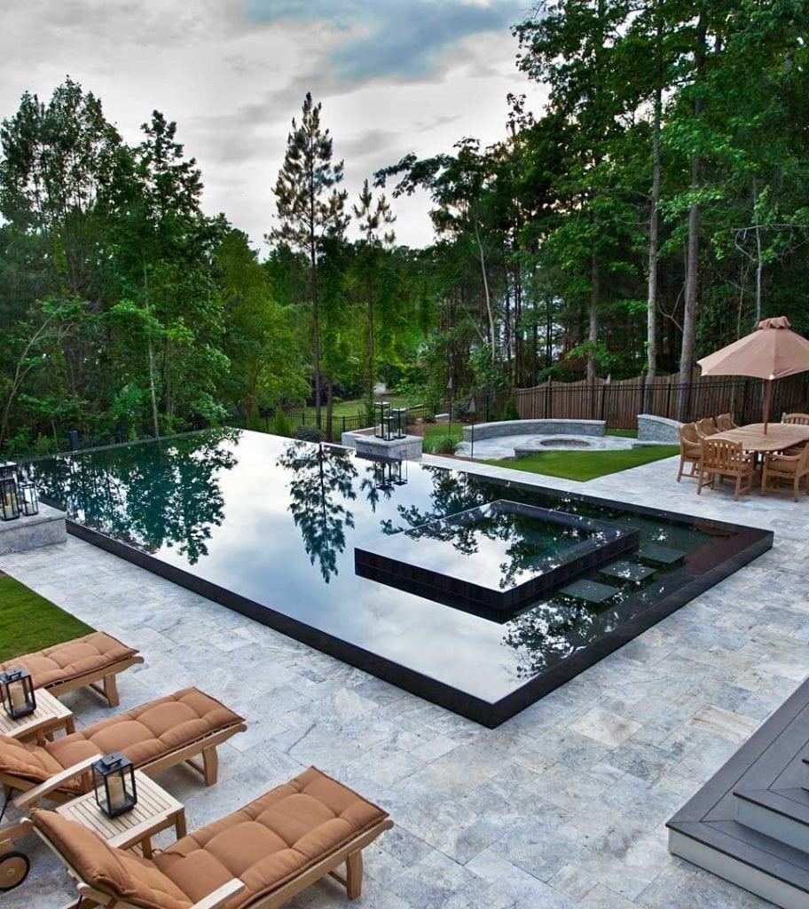 Modern pool design trends entering georgia atlanta home for Pool design trends