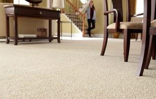 Carpet flooring in living room