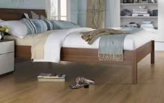 Bedroom design with Luxury Vinyl Flooring