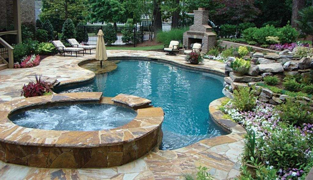 Outdoor spas small pools atlanta home improvement for Pool design hours