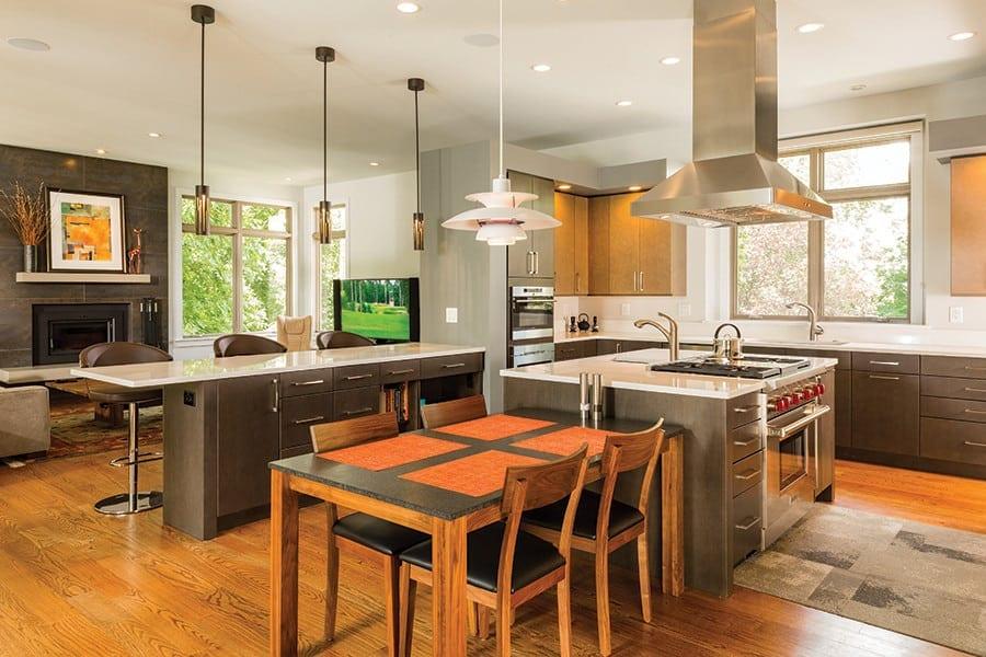 Open floor plan kitchen remodel