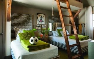 Kids bedroom design at Serenbe
