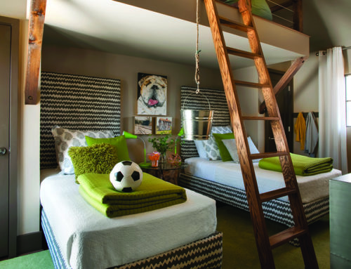 Really Cool Kids Bedroom With a Ladder to a cozy, tree-house-like retreat