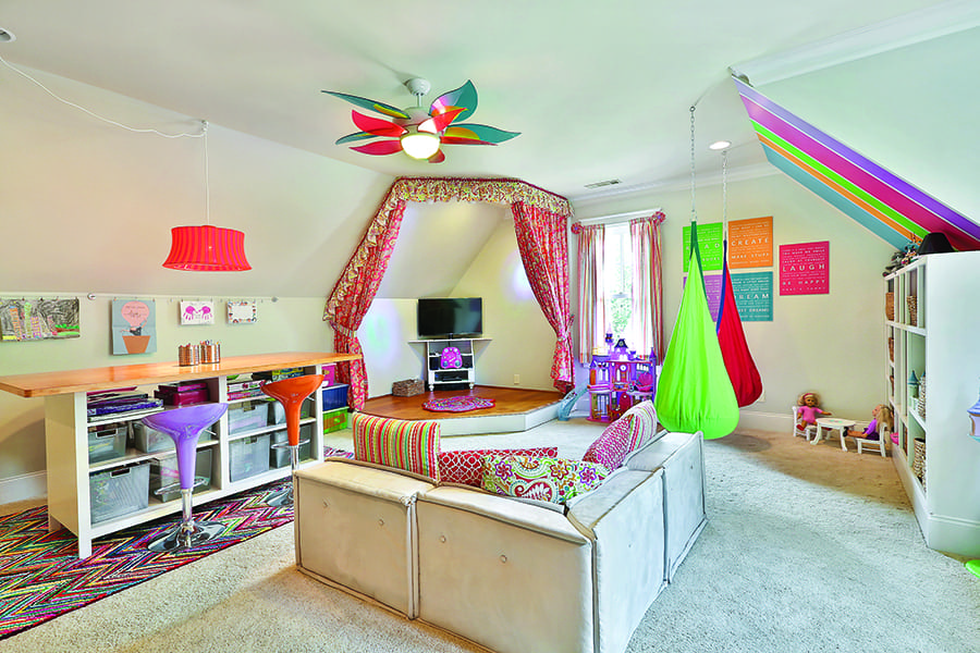 Colorful and functional Kids playroom by Beth Murty