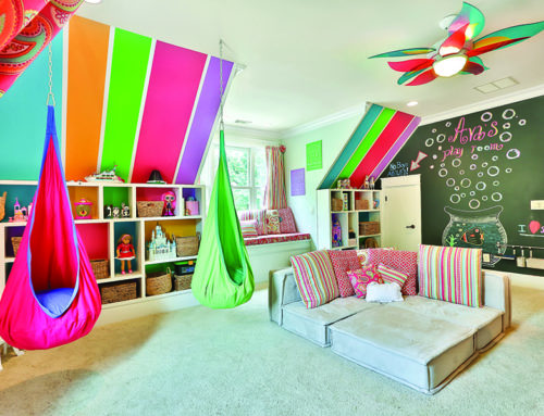 Foster your child's creative genius with a colorful playroom