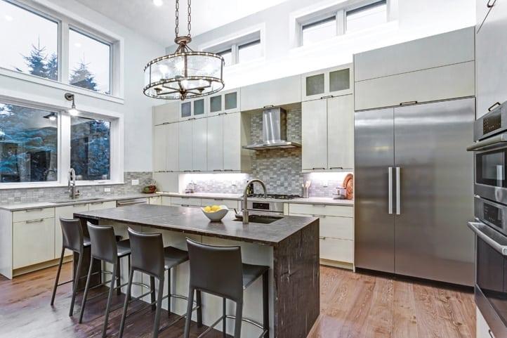 Elegant kitchen design with energy-efficient appliances
