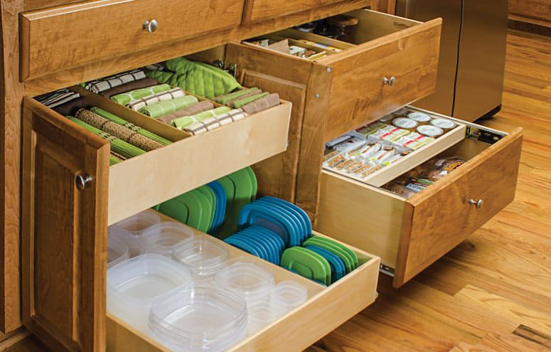 Kitchen cabinet organization by Shelf Genie Atlanta