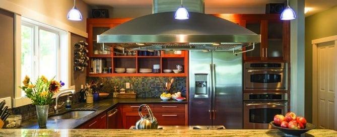 Beautiful, contemporary kitchen design with granite countertop - Atlanta StoneWorks