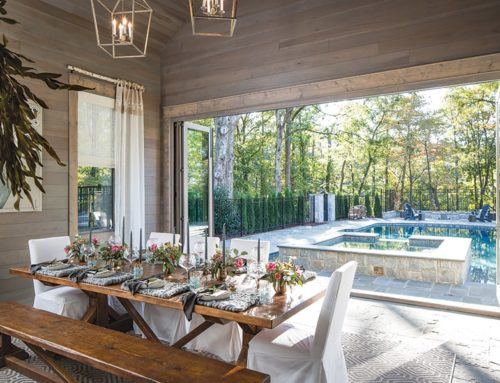 Tablescape Designer Victoria Katsikis Takes This Indoor/Outdoor Dinette To The Next Level