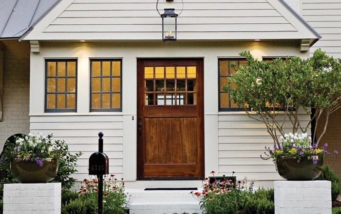 Enhance your curb appeal with a Craftsman style Sapele Mahogany Door Home