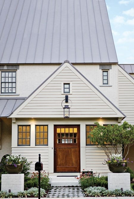 Craftsman-Style Mahogany door with 15 individual panes of glass | t-Olive Properties
