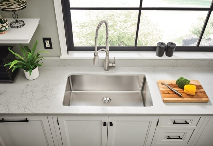 Elkay Lustertone Iconix Stainless Steel Single Bowl Undermount Sink with Perfect Drain