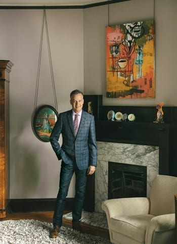 Mark Edge at his Historic House in Midtown Atlanta. Photography by Willett Photography