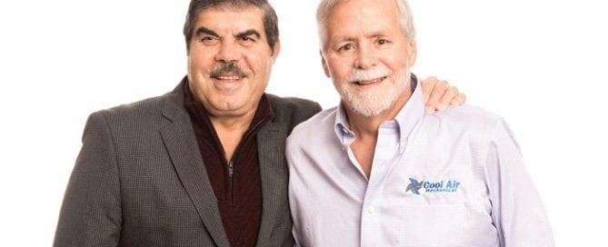 Bill Mashraky and Mike Eberle cool air mechanical