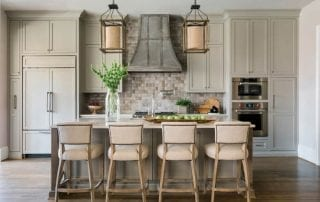 Cristi Holcombe Interiors Large Kitchen Winner Rustic White Photography R