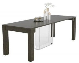 Black Delphinus Expandable Dining Table