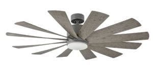 Modern Forms Windflower Graphite and Weathered Grey ceiling fan