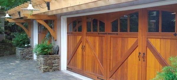 beautiful wood garage doors