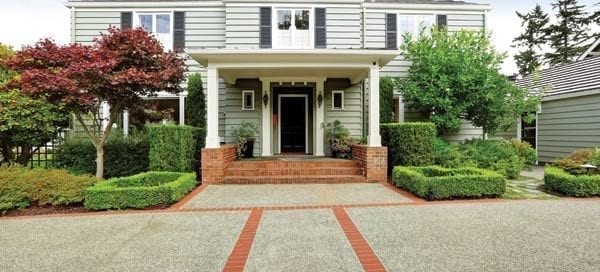 home exterior, front with paved driveway