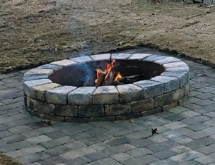 firepit at camp twin lakes