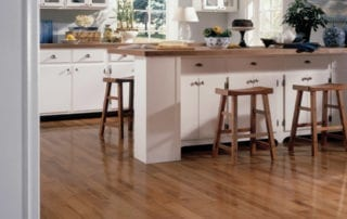 Beautiful kitchen with hardwood flooring and countertop