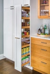 Kitchen organization - pullout shelves