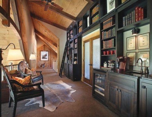Rustic Library Loft  Design