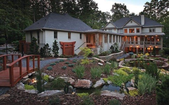 Asian inspired backyard design