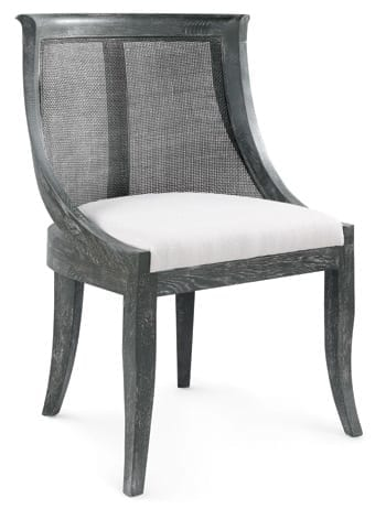 Solid oak chair with gray limed finish