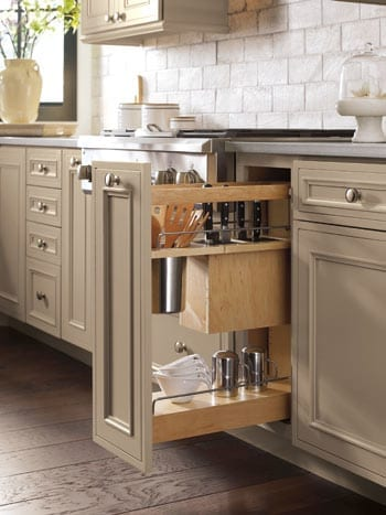 Kitchen storage with utensil Knife Block Pullout Cabinet
